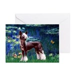 Lilies / Chinese Crested Greeting Cards (Pk of 10)