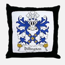 Billington Family Crest Throw Pillow