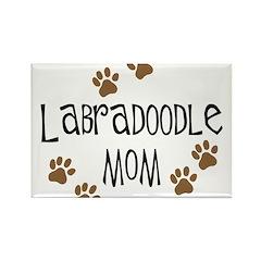 Labradoodle Mom Rectangle Magnet