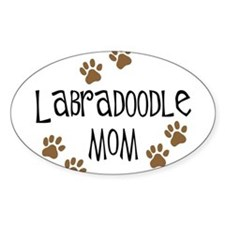 Labradoodle Mom Oval Stickers