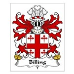 Billing Family Crest Small Poster
