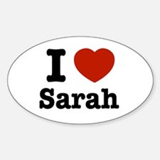 I love Sarah Oval Decal