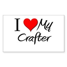 I Heart My Crafter Rectangle Decal