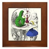 Alice in wonderland white rabbit Framed Tiles