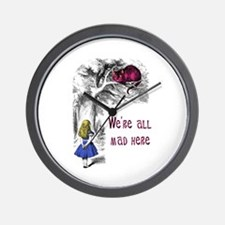Cute Cheshire cat Wall Clock