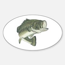 Lunker's Largemouth Bass Oval Decal