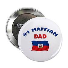 """#1 Haitian Dad 2.25"""" Button"""