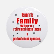 welcome to the family Ornament (Round)