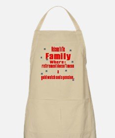 welcome to the family BBQ Apron