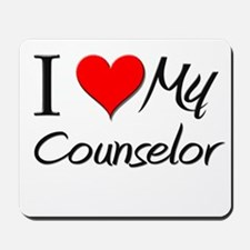 I Heart My Counselor Mousepad