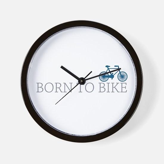 Born to Bike Wall Clock