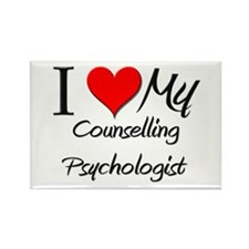 I Heart My Counselling Psychologist Rectangle Magn