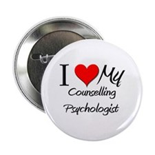 """I Heart My Counselling Psychologist 2.25"""" Button"""