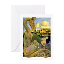 LAST DRAGON Greeting Card