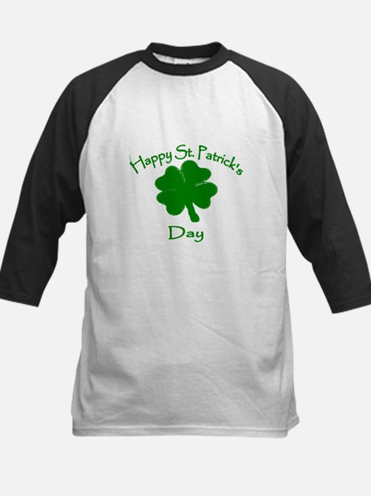 Happy St Patrick's Day Kids Baseball Jersey