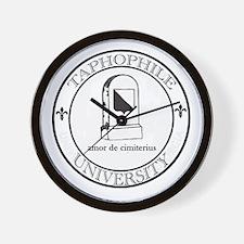 Taphophile University Wall Clock