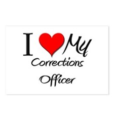 I Heart My Corrections Officer Postcards (Package