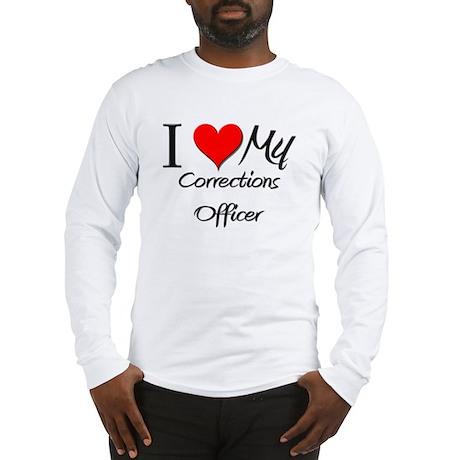 I Heart My Corrections Officer Long Sleeve T-Shirt