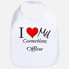 I Heart My Corrections Officer Bib