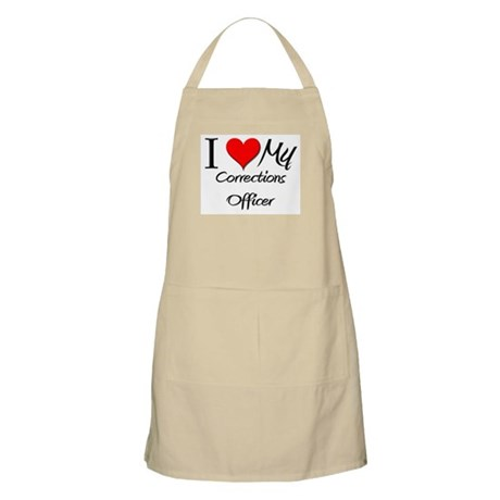 I Heart My Corrections Officer BBQ Apron