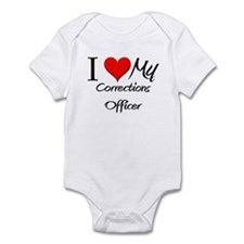 I Heart My Corrections Officer Infant Bodysuit