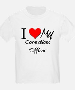 I Heart My Corrections Officer T-Shirt