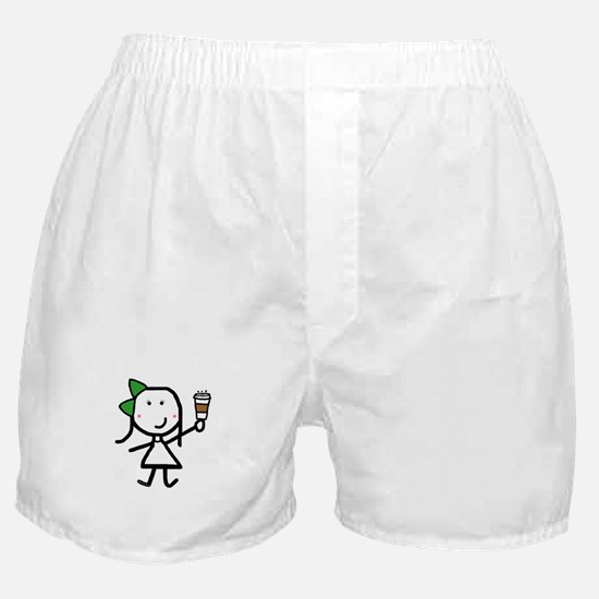 Girl & Coffee Boxer Shorts