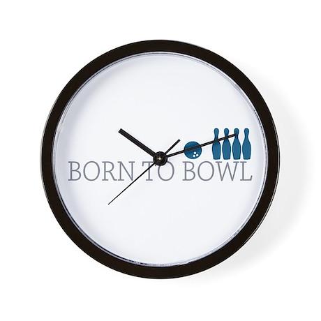 Born to BOWL Wall Clock