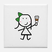 Girl & Coffee Tile Coaster