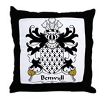Benwyll Family Crest Throw Pillow