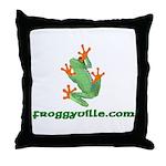 Froggyville Throw Pillow