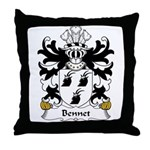 Bennet Family Crest Throw Pillow