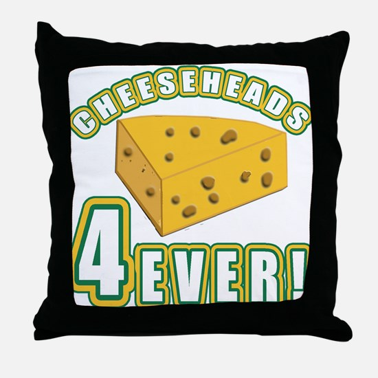 Cheeseheads Forever with Number 4 Throw Pillow