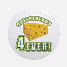 Cheeseheads Forever with Number 4 Ornament (Round)