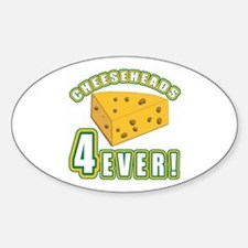 Cheeseheads Forever with Number 4 Oval Decal
