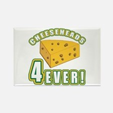 Cheeseheads Forever with Number 4 Rectangle Magnet