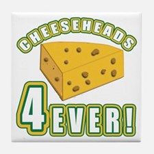 Cheeseheads Forever with Number 4 Tile Coaster