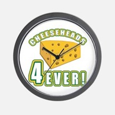 Cheeseheads Forever with Number 4 Wall Clock