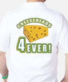 Cheeseheads Forever with Number 4 T-Shirt