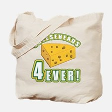 Cheeseheads Forever with Number 4 Tote Bag