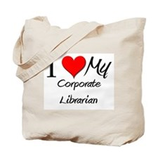 I Heart My Corporate Librarian Tote Bag
