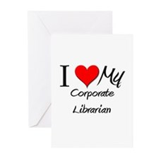 I Heart My Corporate Librarian Greeting Cards (Pk
