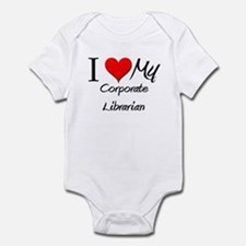 I Heart My Corporate Librarian Infant Bodysuit