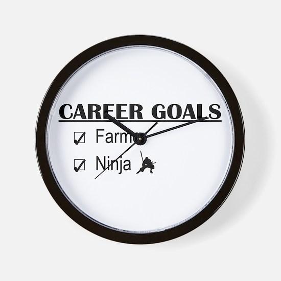 Farmer Career Goals Wall Clock