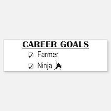 Farmer Career Goals Bumper Bumper Bumper Sticker
