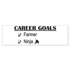 Farmer Career Goals Bumper Bumper Sticker