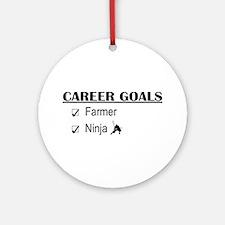Farmer Career Goals Ornament (Round)