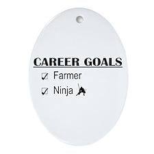 Farmer Career Goals Oval Ornament
