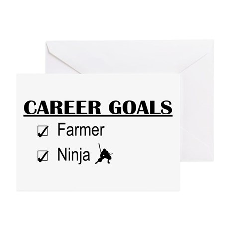 Farmer Career Goals Greeting Cards (Pk of 10)