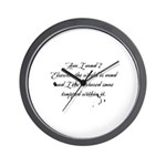 The Letters of Magdalen Montague Wall Clock